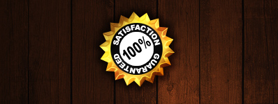 100% Satisfaction Guaranteed Seal/Badge Result