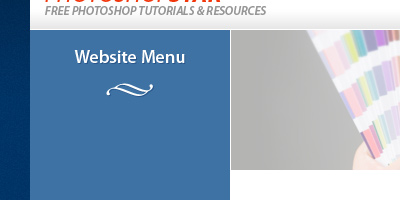 Website Menu Text added and Ornament Shape