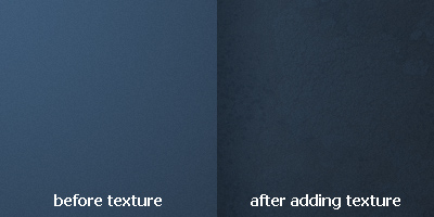 Before and After adding Texture to Background