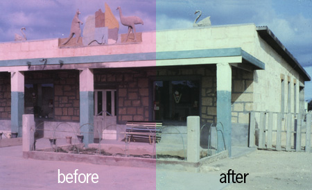 Correcting a Red Over-Saturated Photo Restoration