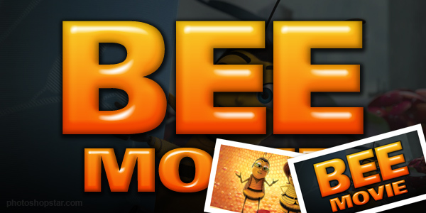 'Bee Movie' Text Effect Photoshop Tutorial