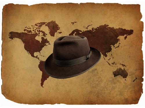 Indiana Jones' Hat Darkened and Resized