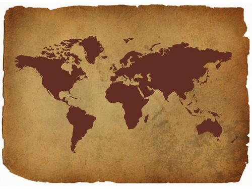 World Map Shape Added