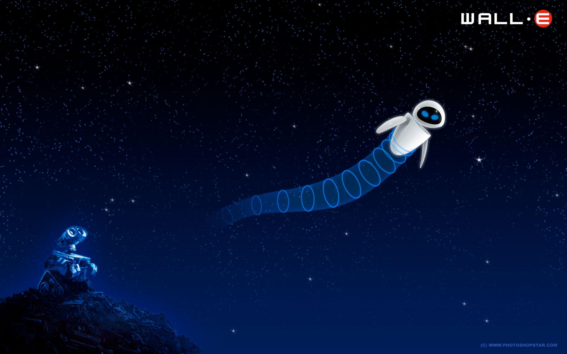 Wall-E Cartoon Style Wallpaper