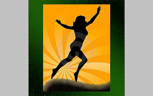 glowing woman silhouette image 04