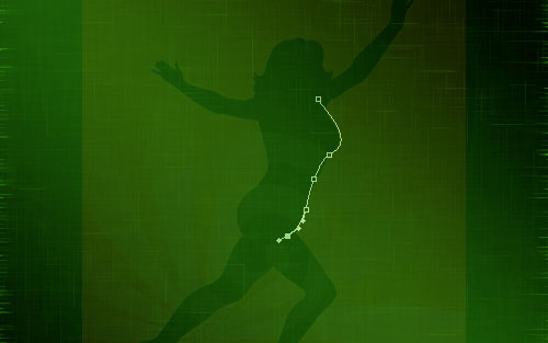 glowing woman silhouette image 06
