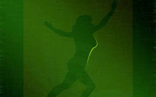 glowing woman silhouette image 09