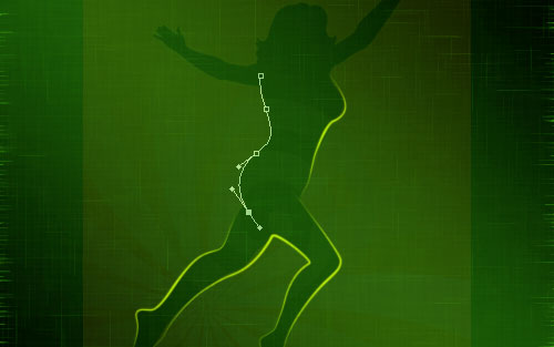 glowing woman silhouette image 13