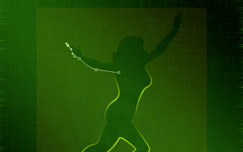glowing woman silhouette image 14