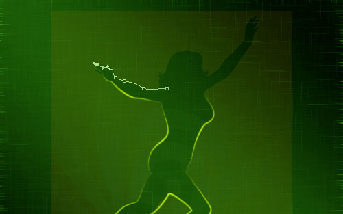 glowing woman silhouette image 15