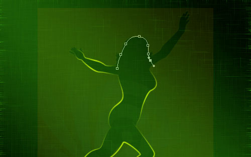 glowing woman silhouette image 16