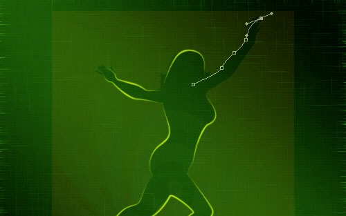 glowing woman silhouette image 17