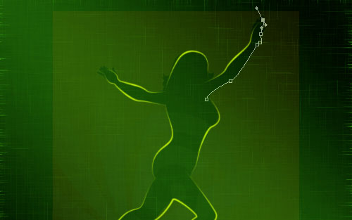 glowing woman silhouette image 18