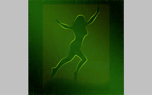 glowing woman silhouette image 19
