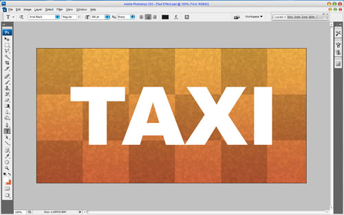 Creating Taxi Text Effect 10