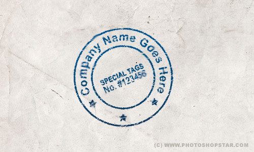 Create Your Own Realistic View Stamp Photoshop Star