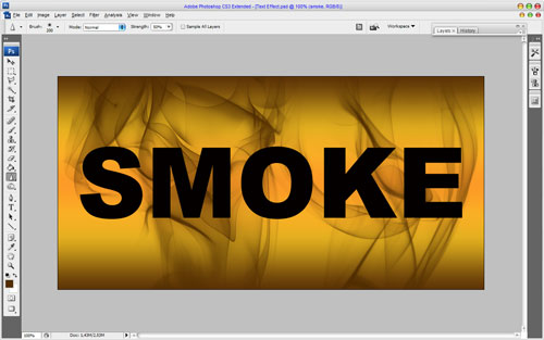Smoked Text Effect 06