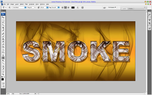 Smoked Text Effect 14