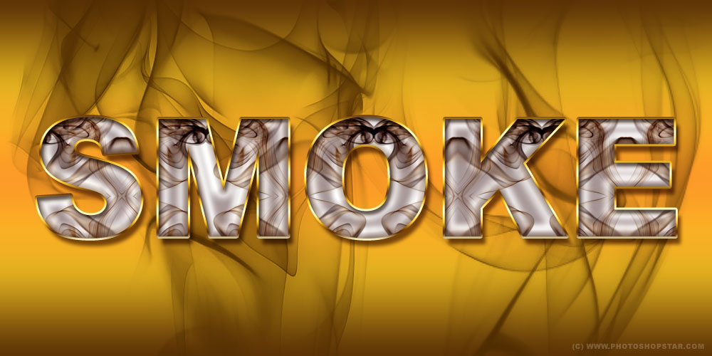 Smoked Text Effect