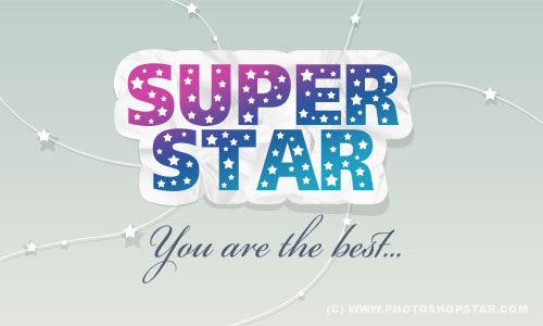 Super Star Logo | Photoshop Star