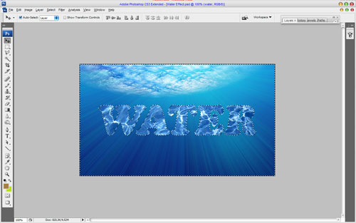 Interesting Water Text Effect 03
