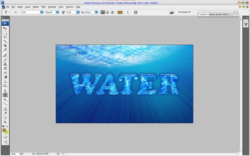 Interesting Water Text Effect 12