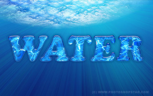 Interesting Water Text Effect