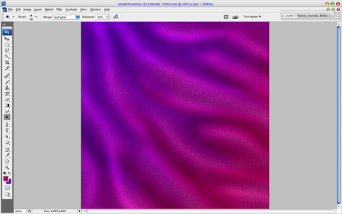Creating Chameleon Effect Fabric Texture 06