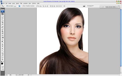 Professional Hair Processing in Photoshop 01