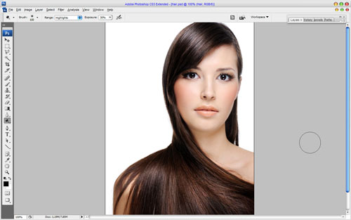 Professional Hair Processing in Photoshop 02