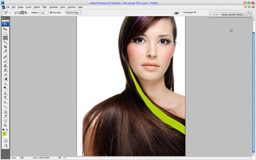 Professional Hair Processing in Photoshop 09