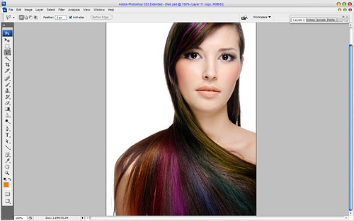 Professional Hair Processing in Photoshop 12