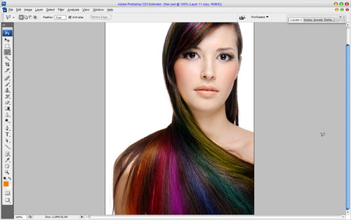 Professional Hair Processing in Photoshop 13