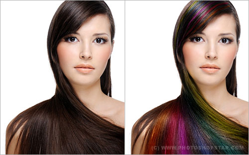 Professional Hair Processing in Photoshop
