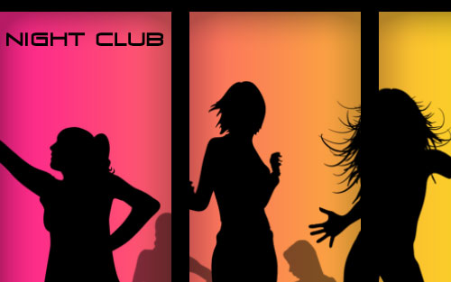 Professional Designed Pseudo Vector Flyer for Night Club 09