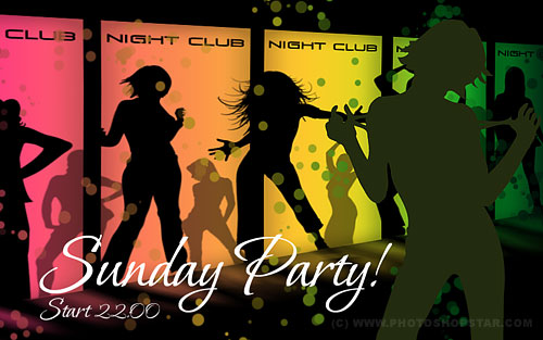 Professional Designed Pseudo Vector Flyer for Night Club