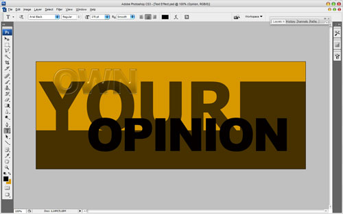 Text Effect in the Chameleon Style 14