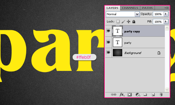 Learn to Create Party Text Effect 1