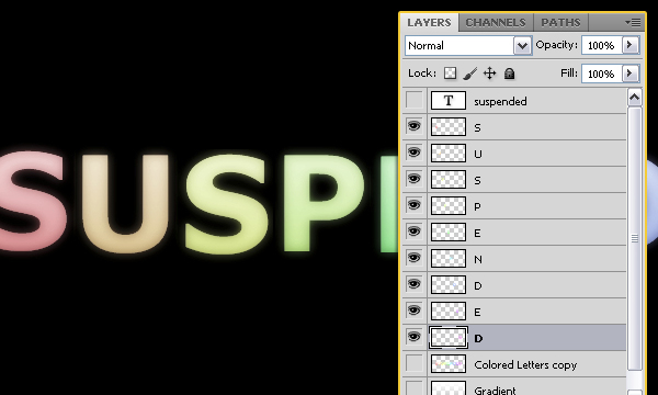 How to Create Suspended Text Effect 13