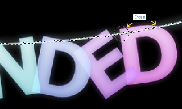 How to Create Suspended Text Effect 23