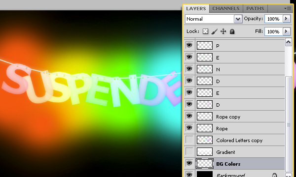How to Create Suspended Text Effect 27