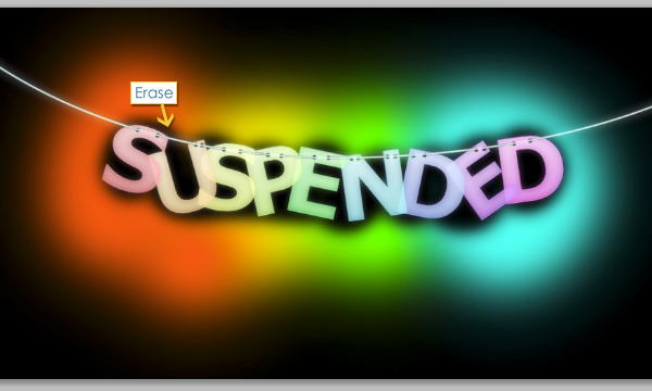 How to Create Suspended Text Effect 28