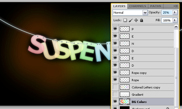 How to Create Suspended Text Effect 29