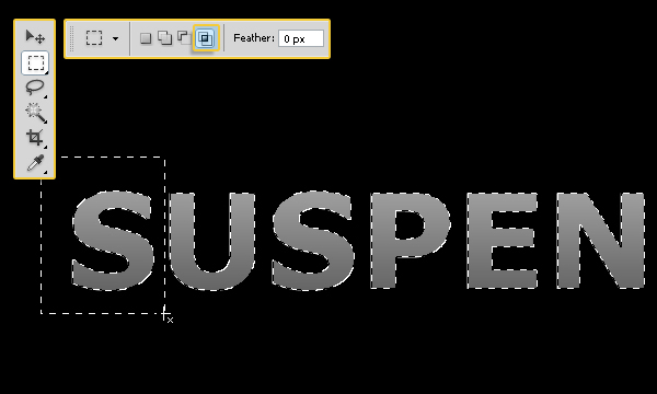 How to Create Suspended Text Effect 5