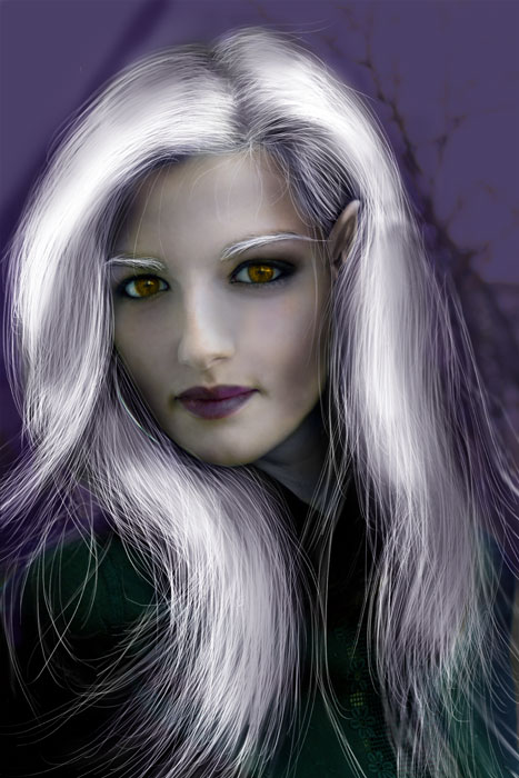 Transform Female into Dark Elf