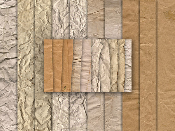 Crumpled Paper Texture Pack