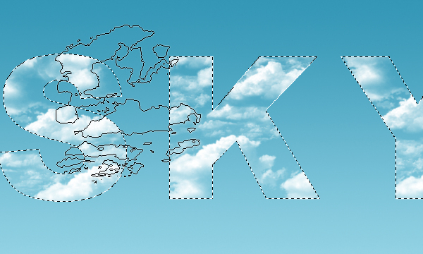 Clouds Text Effect 6