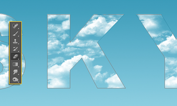 Clouds Text Effect 9