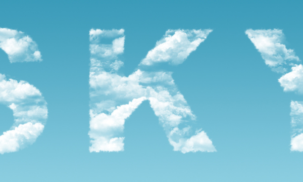 Clouds Text Effect 14