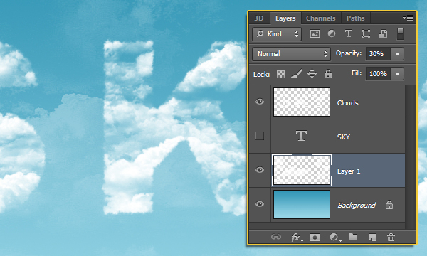 Clouds Text Effect 15